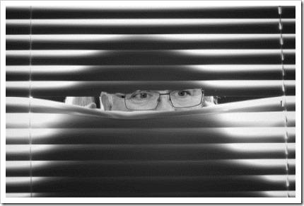 haidtwoman-peeping-through-horizontal-blinds