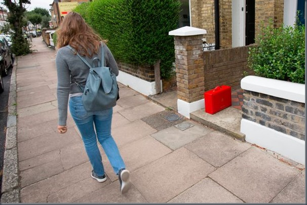 PROD-Red-Box-left-on-her-pathway-outside-her-Wandsworth-home